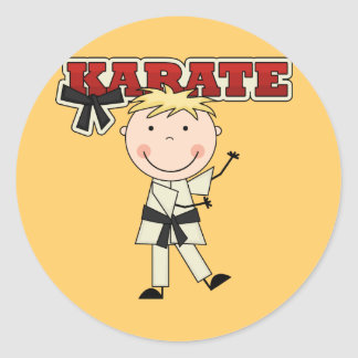 KARATÉ - T-shirts et cadeaux blonds de garçon Sticker Rond