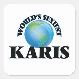 Karis le plus sexy du monde autocollant carré