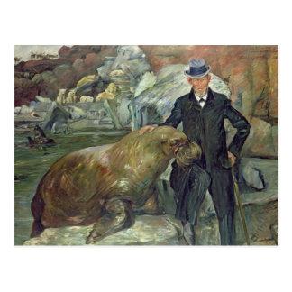 Karl Hagenbeck dans son Zoo, 1911 Carte Postale