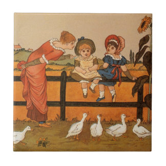 Kate Greenaway, canards victoriens d'enfants de Petit Carreau Carré