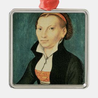 Katharina von Bora, future épouse de Martin Ornement Carré Argenté