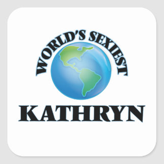 Kathryn le plus sexy du monde sticker carré