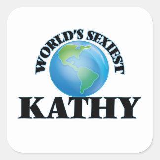 Kathy le plus sexy du monde autocollants carrés