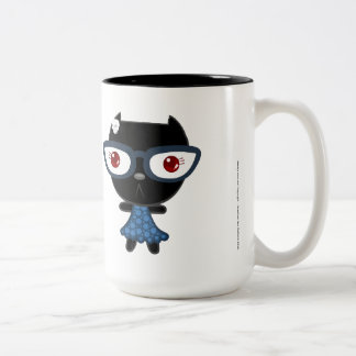 Kats avec Glassez : Blacky KAT Mug Bicolore
