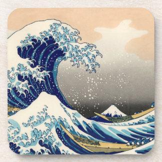 KATSUSHIKA HOKUSAI - La grande vague outre de Dessous-de-verre