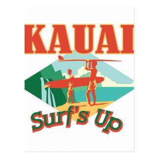 Kauai surfe carte postale
