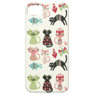 kawai, mignon, chats, papillons, poissons, coeurs, coque Case-Mate iPhone 5