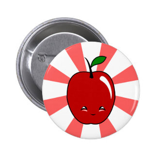 Kawaii Apple (garçon) Badges Avec Agrafe