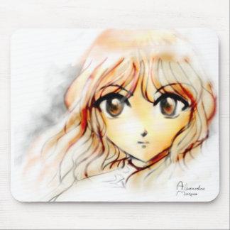 Kawaii de yeux de croquis de fille d'Anime de Mang Tapis De Souris