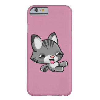 Kawaii glissant le chat coque iPhone 6 barely there