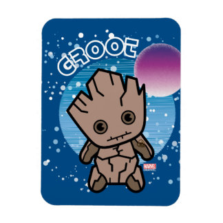 Kawaii Groot dans l'espace Magnet Flexible