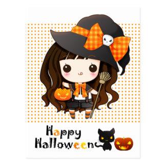 Kawaii heureux Halloween Carte Postale