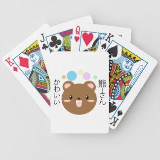 Kawaii/ours mignon jeu de cartes