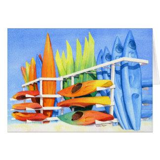Kayaks de chaussée carte de vœux