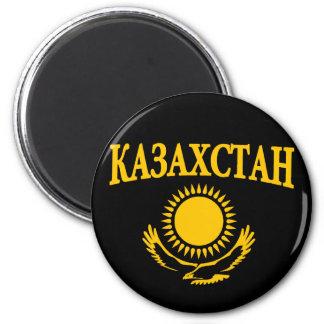 Kazakhstan Magnet Rond 8 Cm