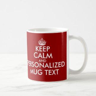 KeepCalm attaque le modèle de Personalizable Mugs