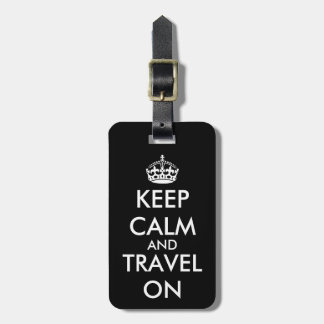 KeepCalm et voyage sur l'étiquette fait sur Étiquette Pour Bagages