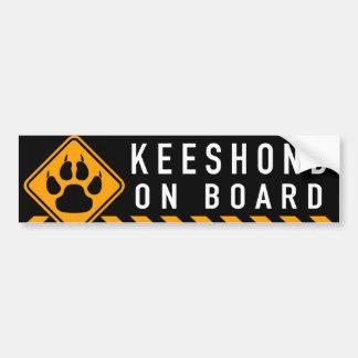Keeshond à bord autocollant pour voiture