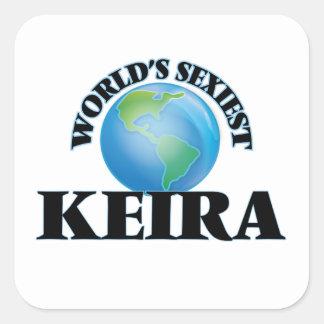 Keira le plus sexy du monde sticker carré
