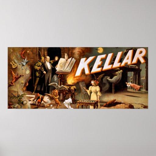 Kellar le poster vintage de magicien - paranormal