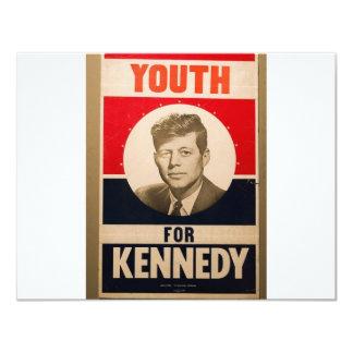 Kennedy 1960 carton d'invitation 10,79 cm x 13,97 cm