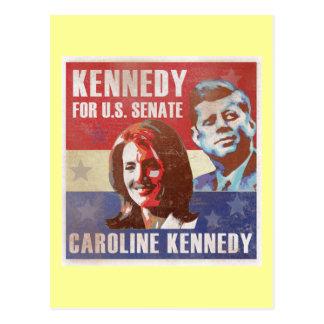 Kennedy commence la campagne pour le sénat carte postale