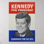 Kennedy pour le président affiches
