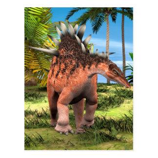 Kentrosaurus de dinosaure carte postale
