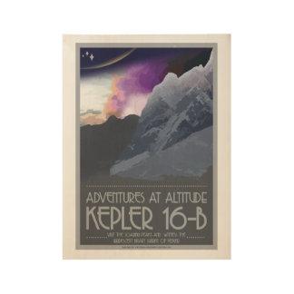 Kepler 16 affiches de l'espace d'art déco de b