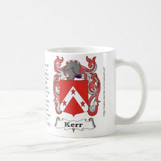 Kerr, l'origine, signification et la crête mug