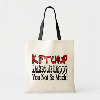 Ketchup heureux sac de toile
