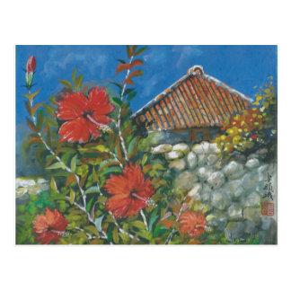 Ketmie de carte postale de peinture et Chambre