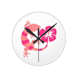 Ketmie de Gecko Horloge Ronde