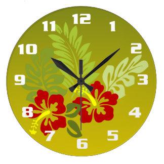 Ketmie et chaux de conception inspirées par grande horloge ronde
