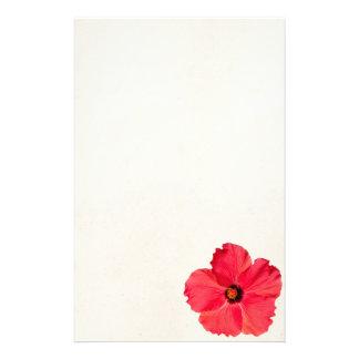Ketmie - fleur tropicale personnalisée de roses papier à lettre customisable