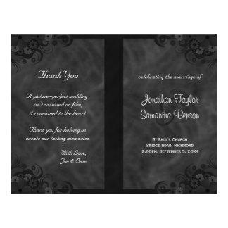 Ketmie Goth floral noir plié épousant des Prospectus 21,6 Cm X 24,94 Cm