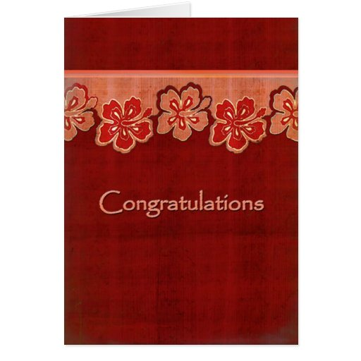 Ketmie hawaïenne Congrats Cartes De Vœux