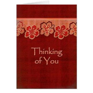 Ketmie hawaïenne pensant à vous cartes de vœux