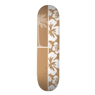 Ketmie tropicale hawaïenne brun clair ; Paume Planches À Roulettes Customisées