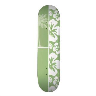Ketmie tropicale hawaïenne verte de laurier ; Paum Skateboards Personnalisés