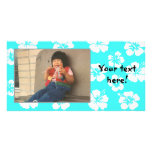Ketmie turquoise personnalisable Photocard Photocarte