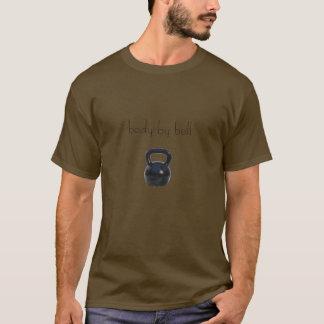kettlebell, corps par la cloche t-shirt