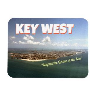 """Key West : Aimant """"au delà de génie… """" Magnet Rectangulaire Avec Photo"""