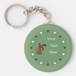 Keychain de chien et de coeurs porte-clefs
