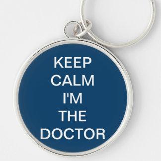 Keychain de docteur Who Inspired Porte-clé Rond Argenté
