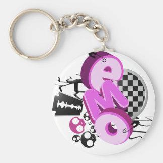 Keychain de lumière de typographie d'Emo Porte-clés