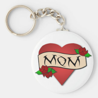 Keychain de tatouage de coeur de maman