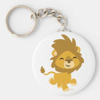 Keychain heureux de lion de bande dessinée