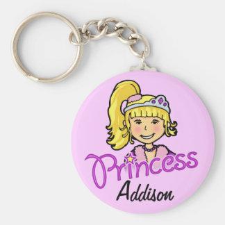 Keychain nommé pourpre de cheveux blonds de prince porte-clé