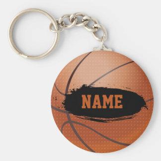 Keychain personnalisé par basket-ball grunge